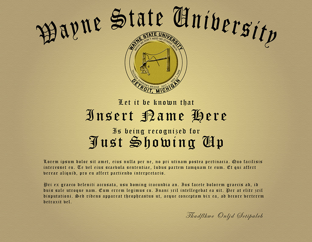 Future Diploma from Wayne State Univ